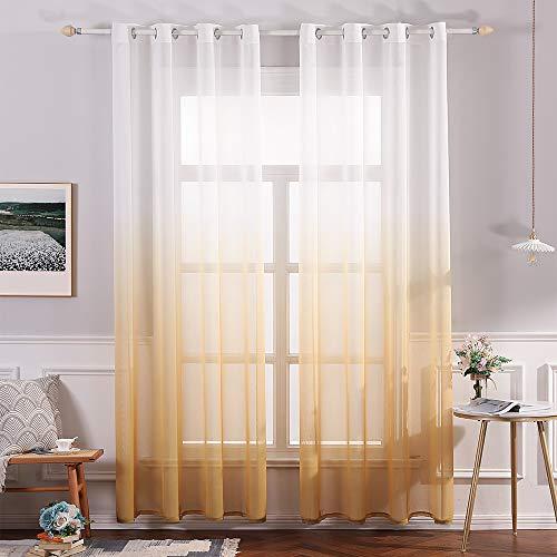 cortinas habitacion ocre