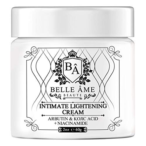 Intimate Skin Lightning Cream - Belle Ame - For Anywhere on your Body - Underarms, Knees, Thighs, Elbows, Buttocks, Private Parts, Dark Spots (2oz)