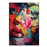 Flduod Arte Pintura al óleo sobre Lienzo Coloridos Carteles de Cara Cuchillo Pintura Pared Arte Imagen para Sala de Estar Moderna Decor_50x65cm
