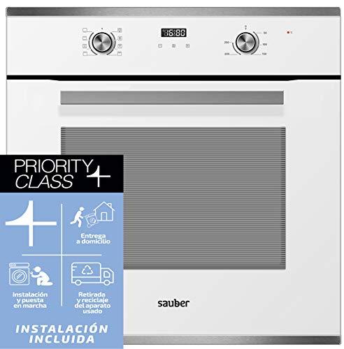 Sauber - Horno multifunción SHM03W - Eficiencia Energética: A - Color Blanco - INSTALACIÓN EN EL DOMICILIO INCLUIDO