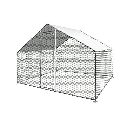 Unbekannt Hühnerstall/Voliere für den Außenbereich, 6 m², 300 cm, Grau