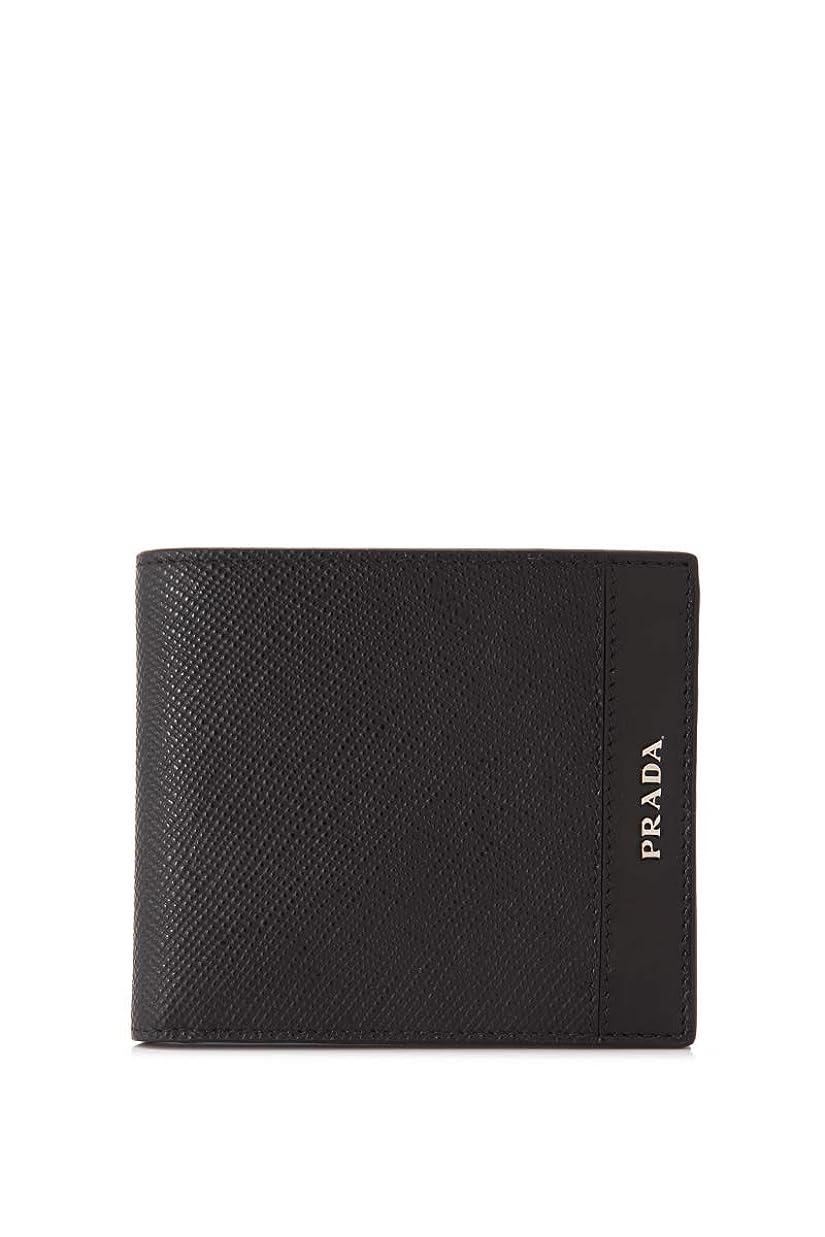 技術的な罪技術的な(PRADA)プラダ レザー、サフィアーノレザー 二つ折り財布 メンズ 新品