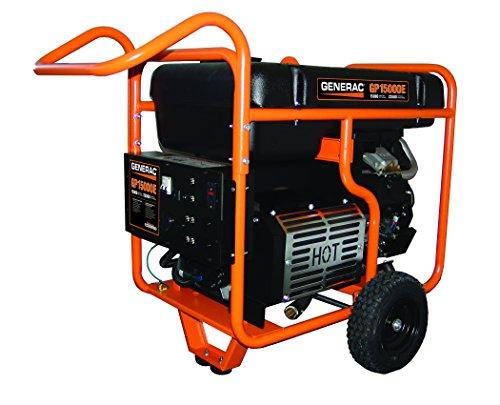 Hot Sale Generac 5734 GP15000E 15,000 Watt 992cc OHVI Gas Powered Portable Generator with Electric Start
