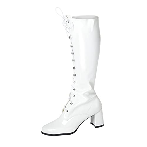 8224e2b69729b Women's Knee High Eyelet Lace Up Go Go Boots