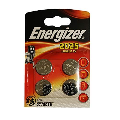 Energizer CR2025 Batterien, Lithium Knopfzelle, 4 Stück (Verpackung kann variiaren)