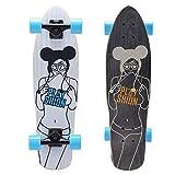 Playshion 65 mm 78a Freeride Longboard Skateboard Wheels (Pink,Set of 4)