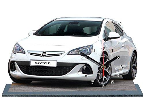 Auto, OPEL Astra, Miniatur Modell Motorrad in der Uhr 02