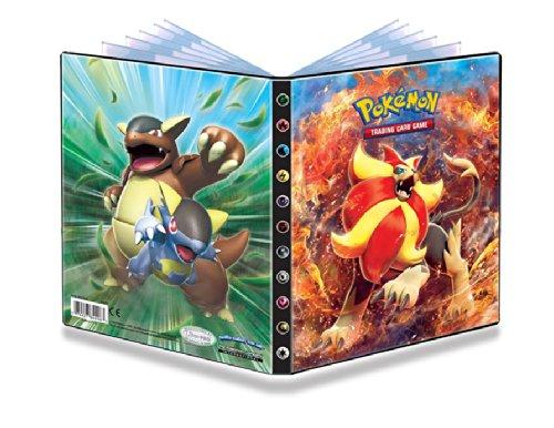 Ultra-Pro 4-Pocket Pokemon Card Binder/Portfolio ft. Pyroar and Kangaskhan from XY Flashfire (Holds 40-80 Cards) image