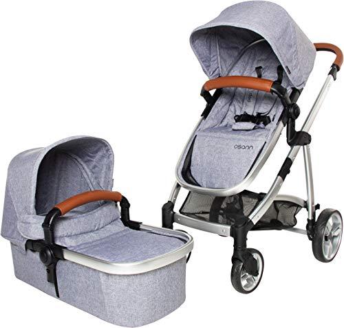 Osann Kinderwagen PEP 3 in 1 System zusammenklappbar grau