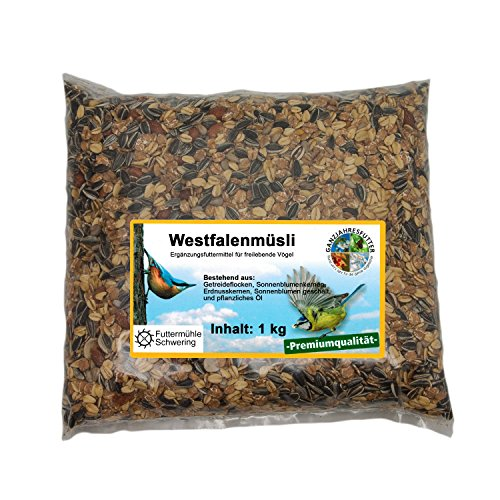 Wildvogelfutter Streupaket mit 5 Sorten Futter je 1kg - 5