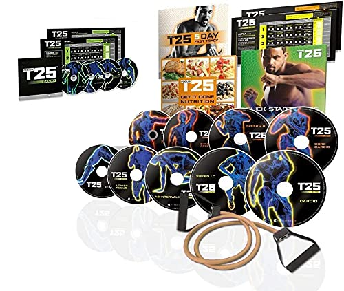 ANKUY Shaun T's FOCUS T25 Insanity Home Workout DVD Set for Man woman...