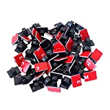 SAISN Adhesive Clips 3m Strong Wire Holders 100 Pack Self-adhesive Wire Clip Cable Cord Desk Management for Office Home and Car