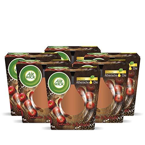 Air Wick feel-good geurkaars kaneelmagie & braadappel, 6 stuks