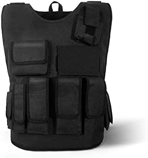 Tactical Vest Military Costume Molle Chest Protectors Gilet Elastic Aramid Protection Board 600D Oxford Cloth Protection 0.28 Square Meters for Army Shooting Hunting Outdoor Police
