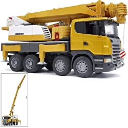 professional Liebherr Bruder Scania R Series Crane with Light and Sound