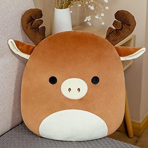 Dehcye 25-80cm Squish Pillow Plushie Toy Stuffed Animals Soft Big Moose Unicorn Cute Pillow Room Car Decor Birthday Gifts for Girls Kids 25CM Moose