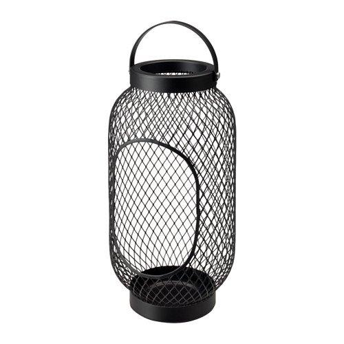 Ikea TOPPIG Windlicht in schwarz; (36cm)