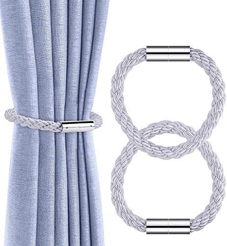 mydecorhome Magnetic Curtain Holdbacks Drapery Tiebacks: 2Pack 16 Inch Tie Backs Holdback for Blackout Sheer Window Treatment