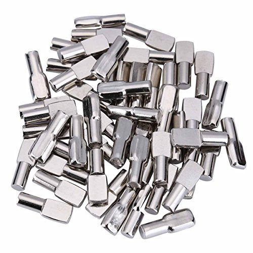 120 Packs Shelf Pins, 5mm Shelf Support Pegs Spoon Shape Cabinet Furniture