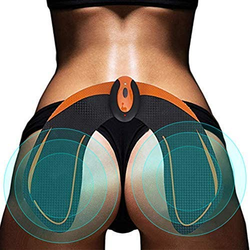 HURRISE Muskelstimulator EMS,Bauchtrainer ABS Trainingsgerät Gesäßtrainer mit wiederaufladbarem USB, intelligenter Gesäßtrainer für Hip Butt Electronic Buttock Trainer