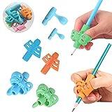 Dsaren Guide Doigt Enfant, Grips pour Crayon Gaucher Silicone Pencil Grips for Kids Ergonomique Aide Ecriture pour Enfant Adulte Besoins Spéciaux 6 PCS