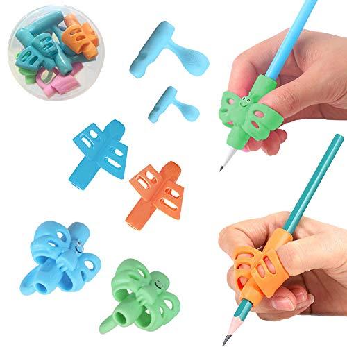 Dsaren Pencil Grip Infantil, Corrector de Escritura Niños Soporte de Lápiz Agarres para Lápices Ergonómico Escritura Ayuda Agarre 6 PCS