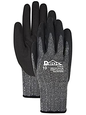MAGID Cut Resistant Black Nitrile Coated Mechanics Work Gloves | EN388 Level 5 Cut Gloves with Enhanced Grip & Touch Screen Fingers - Size 8 (1 Pair)