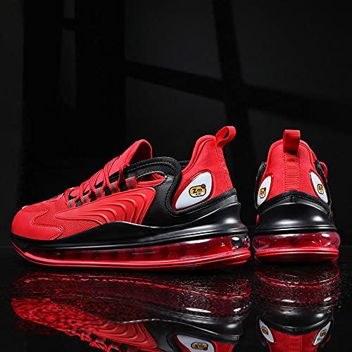 BAIDEFENG Zapatillas Bajas de Hombre,Zapatillas de Tenis de Suela Blanda para Hombre, Zapatillas para Correr con Suela Acolchada-Red_42