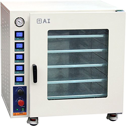 Across International AT75aw.110 Stainless Steel 7.5 cu. ft. Vacuum Oven with 5 Heated Shelves, Tubing, Oil-Filled Gauge and LED Lights, 110V, 50/60Hz, 1500W