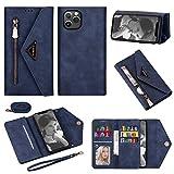 Artfeel Brieftasche Handykette Hülle Kompatibel mit iPhone 12/iPhone 12 Pro 6.1 Zoll,Leder...