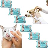 1 Pack (60 wipes) Pet Cleaning Wet Wipes Hygiene Dog Puppy Cat Rabbit Ear Paws Walk Outdoor