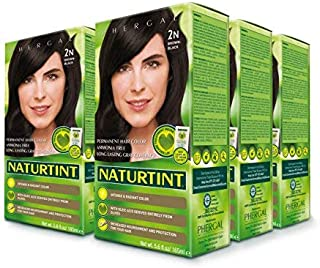 Naturtint Permanent Hair Color, 2N Brown Black Color, Intense and Radiant - 6 Pack