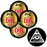 TeaZa Herbal Energy Pouch Cherry 4 Cans with DC Crafts Nation Skin Can Cover - Illuminati