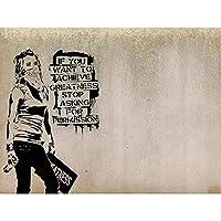 Banksy Achieve Greatness Graffiti Street Art Print Poster Wall Decor 12X16 Inch バンクシーすばらしいです落書き通りポスター壁デコ