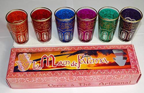 kenta artesanias - Juego 6 Vasos de té marroquies