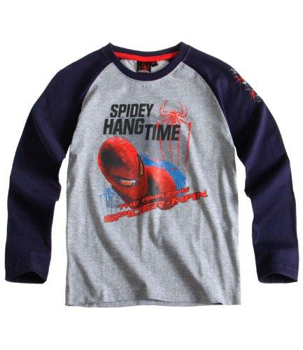 Spiderman manga larga gris gris 8/9 años