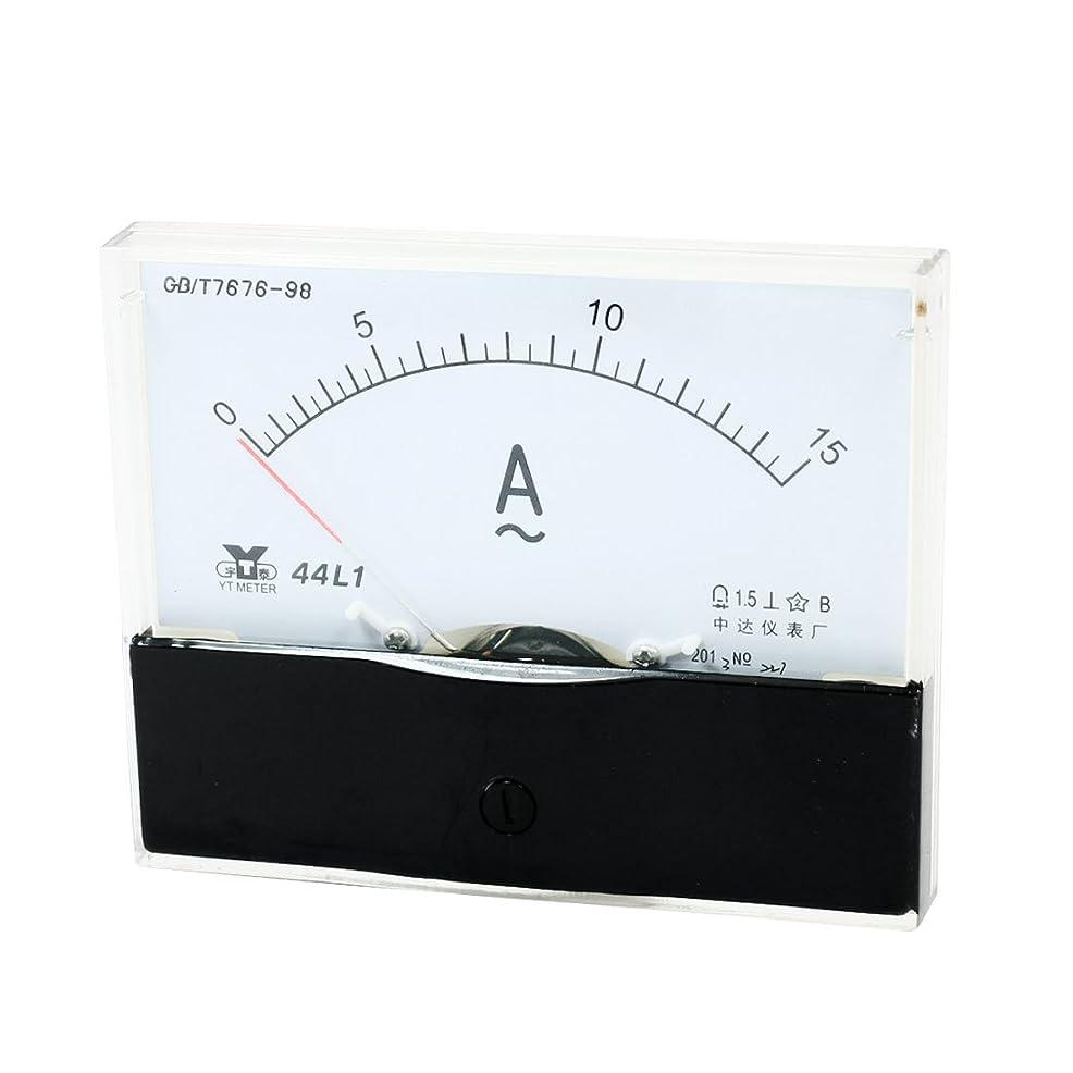 締め切り拡張誘惑uxcell アンペアアナログ 電流パネルメータ 電流試験 電流計 アンメーター AC 0-15A 10cmx8cm