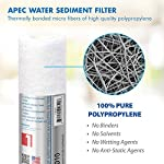 APEC Water Systems Filter-Set US Made Double Capacity Replacement Stage 1-3 for Ultimate Series Reverse Osmosis System… 12 APEC ULTIMATE high capacity pre-filter set is USA made and built to last 2x longer than other brands 1st stage polypropylene sediment filter to remove dust, particles, and rust 2nd & 3rd stage extruded carbon block filters to remove chlorine, taste & odor
