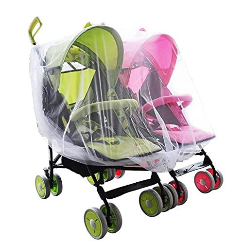 Ranana Pram Net Cover Doble Cochecito de bebé Mosquito Net Cuna Cuna Mosquitera Transpirable Se Adapta a la mayoría de Las cunas Bañeras Parques Corredores y Cuna de Viaje Adorable
