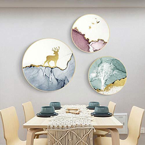 RUIKESI DIY Diamond Painting, 5d Diamond Painting Triptych Full of Diamonds Living Room Crystal Masonry Stickers-Painting core 4040cm