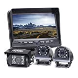 Rear View Safety Backup Camera System with Side Cameras for RV's, Trucks, Buses and Commercial Vehicles | RVS-770616NM