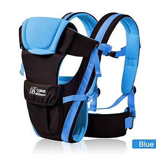 TINERS Beth Bear 0-30 Meses Respaldo Delantero Transpirable Portador de bebé 4 en 1 Infantil Sling cómodo Sling Mochila Bolsa Wrap Baby Kangaroo,Blue