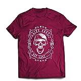 lepni.me Camisetas Hombre Viva rápido - muera último - Citas de Paseo en Bicicleta, Ropa de Motocicleta, Encanta Viajar, Gran Regalo para el Motorista (XX-Large Borgoña Multicolor)