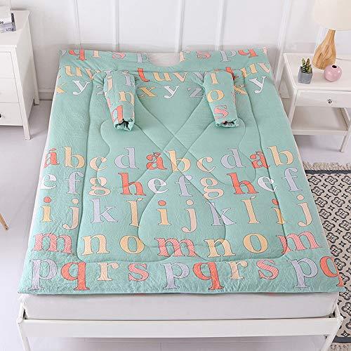 Multifunktions Lazy Decke,150cmX200cm TV-Decke Frauen Winter Lazy Quilt with Sleeves,Warm Thickened Washed Print Quilt Blanket Decke Schlafsack Faul Kuscheldecke Geschenk (A)