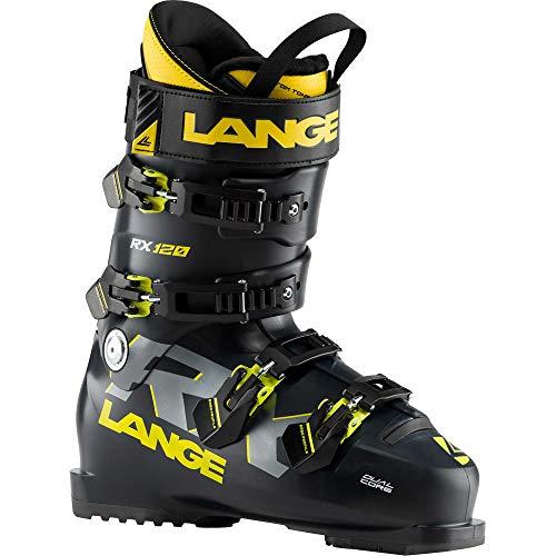 Lange RX 120 Botas de Esquí, Adultos Unisex, Negro/Amarillo
