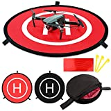 Drone Landing Pads KINBON, Waterproof 30'' Universal Landing Pad Fast-fold Double Sided Quadcopter Landing Pads for RC Drones Helicopter DJI Spark Mavic Pro Phantom 2/3/4 Pro Inspire 2/1 3DR Solo