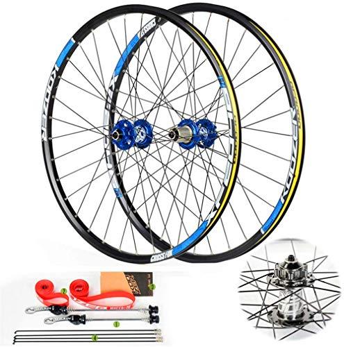 Bicicletas eléctricas Kit de conversión 26 / 27,5 pulgadas de montaña de la bicicleta Ruedas Conjunto, de doble pared 32H aleación de aluminio MTB rápido de la rueda de lanzamiento del freno de disco