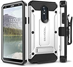LG Stylo 4 Case, Evocel [Explorer Series Pro] Premium Full Body Case with Glass Screen Protector, Belt Clip Holster, Metal Kickstand for LG G Stylo 4 (2018), Silver (EVO-LGSTYLO4-CC06)