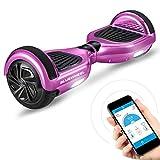 6.5' Gyropode Bluewheel HX310s Smart APP Self Balance Scooter Board, Marque Allemande avec Norme UL2272, Mode sécurité Enfant, Skateboard électrique, Bluetooth (HX310s Rose Chrome)