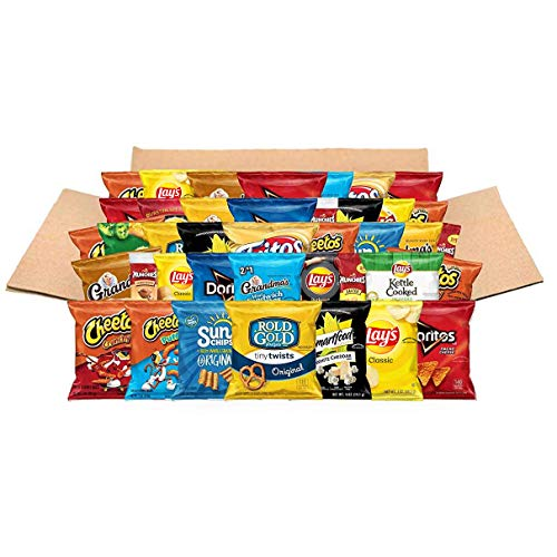Ultimate Snacks Care Package, Classic Variety Assortment of Chips, Cookies, Crackers, & Nuts, 40 Count